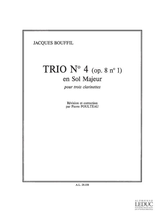 TRIO No.4 in G major Op.8 No.1 (score & parts)