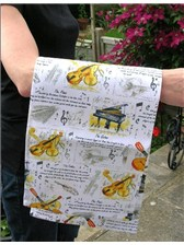 TEA TOWEL Classical Instruments