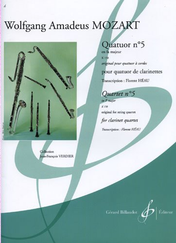 QUARTET No.5 in F major, KV 158 (score & parts)