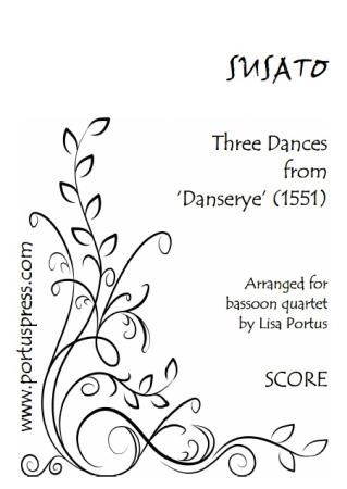 THREE DANCES from Danserye (score & parts)