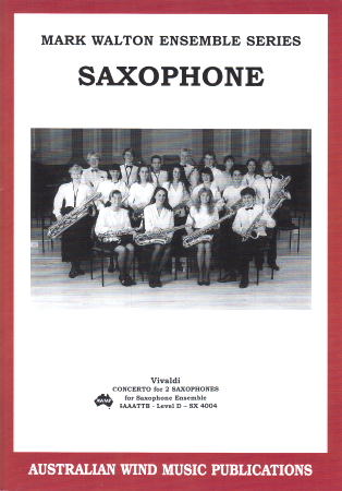 CONCERTO FOR TWO SAXOPHONES First Movement (score & parts)