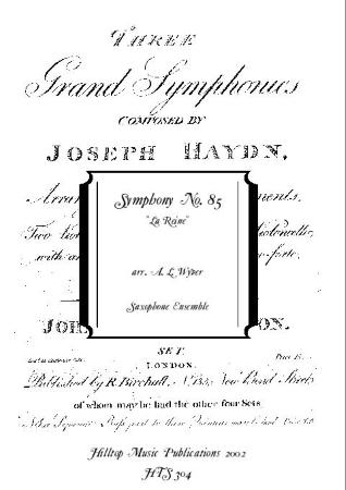SYMPHONY No.85 'La Reine'