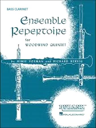 ENSEMBLE REPERTOIRE WIND QUINTET Bass Clarinet part