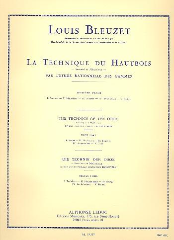 LA TECHNIQUE DU HAUTBOIS Volume 1