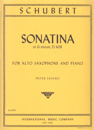 SONATINA in g minor D408