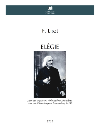 ELEGIE S.129b Harp part (ad libitum) - Digital Edition