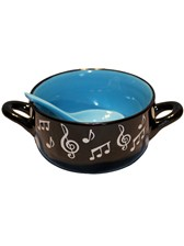 BOWL WITH SPOON Music Note (Blue)