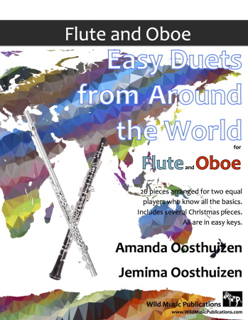 EASY DUETS FROM AROUND THE WORLD for Flute & Oboe