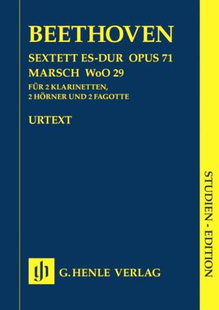 SEXTET in Eb major Op.71 & MARCH WoO29 (score)