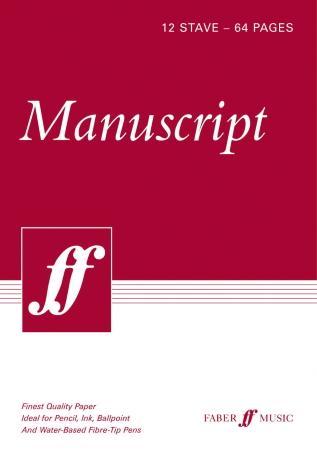 MANUSCRIPT PAPER BOOK A4 12-Stave Spiral Bound