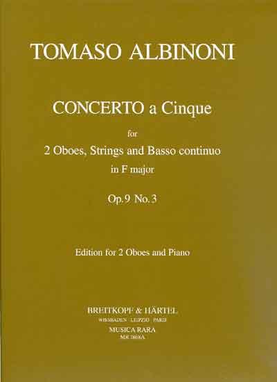 CONCERTO a 5 in F major, Op.9 No.3