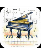 COASTERS Piano (Pack of 4)