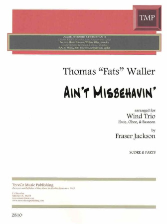 AIN'T MISBEHAVIN' (score & parts)