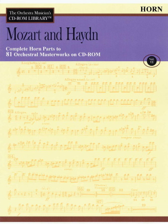 THE ORCHESTRA MUSICIAN'S CD-ROM LIBRARY Volume 6 Mozart & Haydn