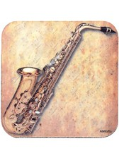 DRINKS COASTER Saxophone