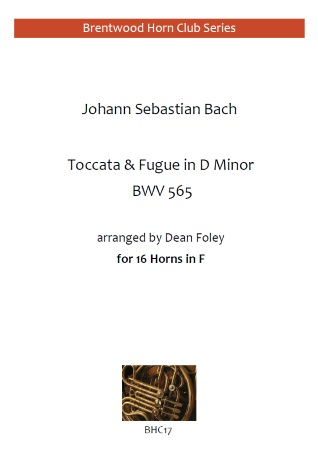 TOCCATA AND FUGUE in D minor BWV 565 (score & parts)