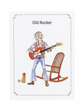 GREETINGS CARD Old Rocker (7in x 5in)