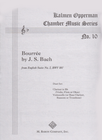 BOURREE from English Suite No.2 BWV807