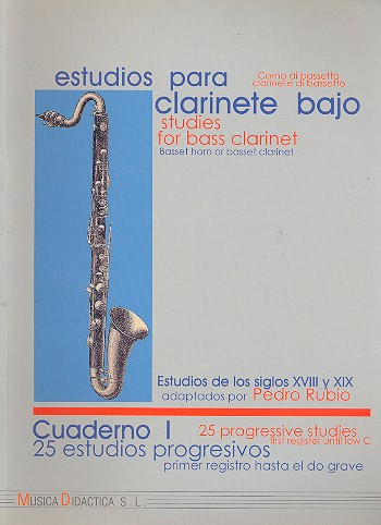 STUDIES FOR BASS CLARINET Volume 1