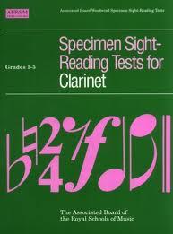 SPECIMEN SIGHT READING TESTS Grades 1-5 (to 2017)