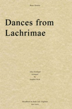DANCES FROM LACHRIMAE (score & parts)
