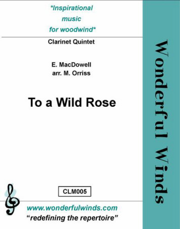 TO A WILD ROSE score & parts
