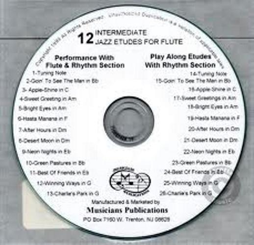 12 INTERMEDIATE JAZZ ETUDES CD