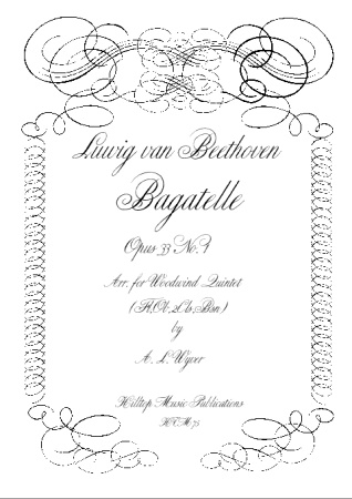 BAGATELLE Op.33 No.1 (score & parts)
