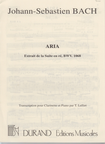 ARIA from Suite in D BWV1068