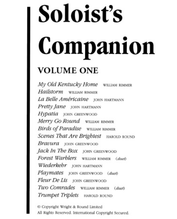 THE SOLOIST'S COMPANION Volume 1