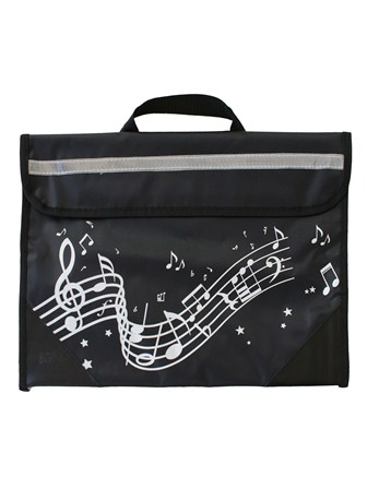 MUSIC BAG Wavy Stave (Black)