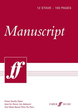 MANUSCRIPT PAPER A4 PAD 12-Stave, 100 pages