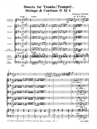 SONATA XI/4 in D major