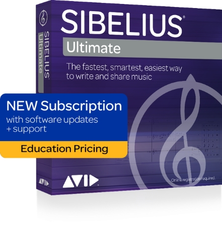 SIBELIUS Ultimate 1 Year Subscription + Support & Updates - Student/Teacher (Boxed)