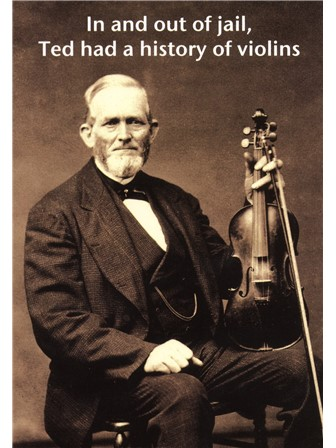 GREETINGS CARD History of Violins