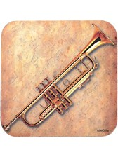 DRINKS COASTER Trumpet