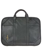 LEATHER MUSIC BRIEFCASE Treble Clef