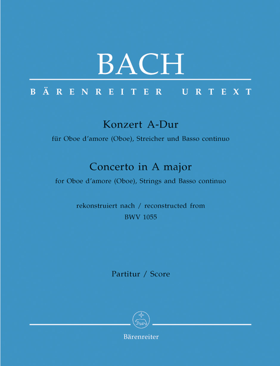 CONCERTO in A Major BWV1055 score