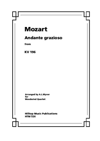 ANDANTE GRAZIOSO from KV196 (score & parts)