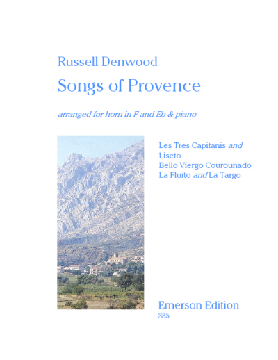 SONGS OF PROVENCE