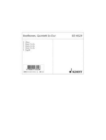 QUINTET in E major (set of parts)