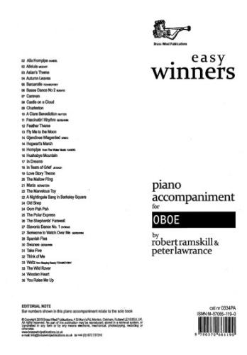 EASY WINNERS Piano Accompaniment