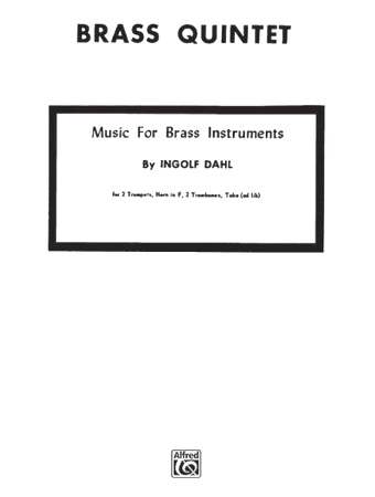 MUSIC FOR BRASS INSTRUMENTS (score & parts)