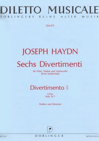 DIVERTIMENTO No.1 in F major score & parts