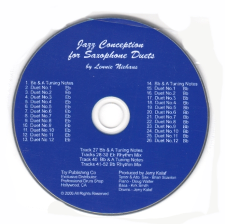 JAZZ CONCEPTION for Saxophone Duets CD