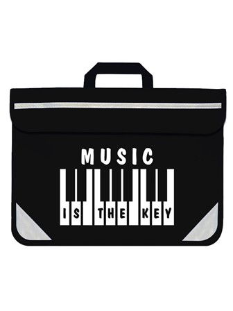 MUSIC BAG Music is the Key (Black)