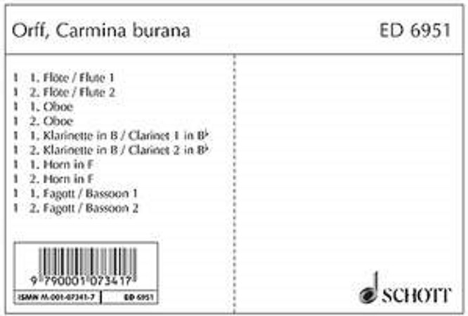 CARMINA BURANA (set of parts)