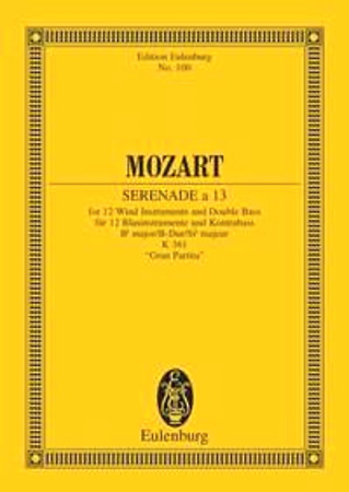 SERENADE No.10 K361 miniature score