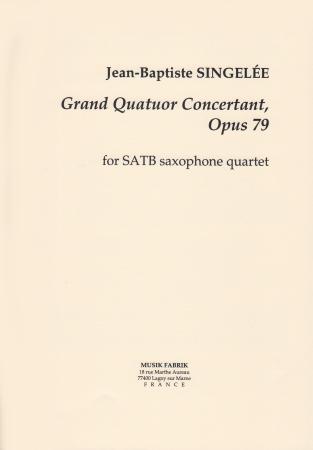 GRAND QUATUOR CONCERTANTE Op.79 (score & parts)