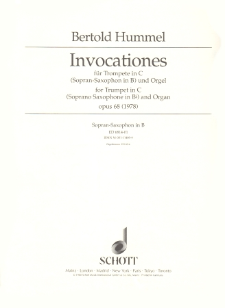 INVOCATIONES FOR TRUMPET IN C Op.68